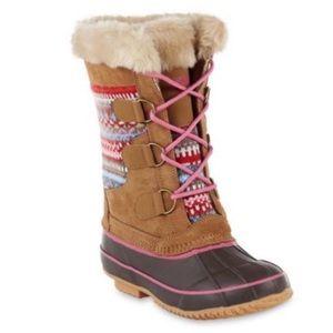 KHOMBU | Juliana Leather Sweater Snow Duck Boot 4